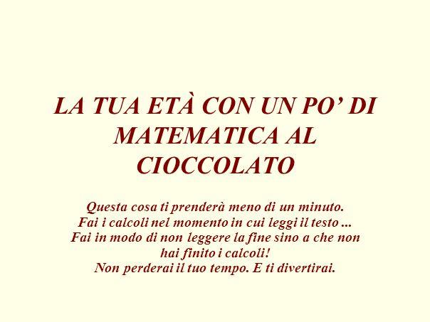 1.Quante volte alla settimana ti piace mangiare cioccolato .