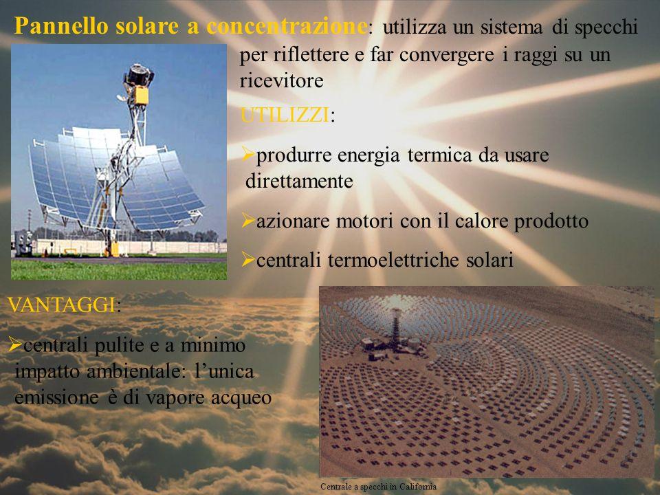 Esperimento: specchio solare Obiettivo: riscaldare dellacqua contenuta in una cisterna tramite radiazione solare.