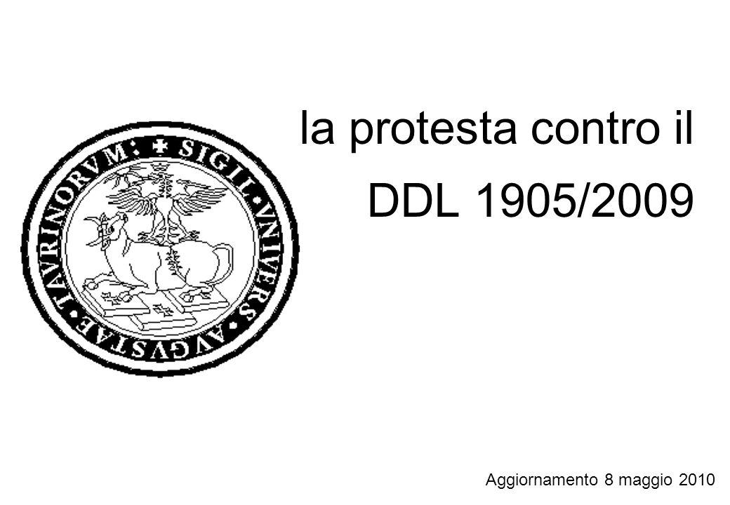 la protesta contro il DDL 1905/2009 Aggiornamento 8 maggio 2010