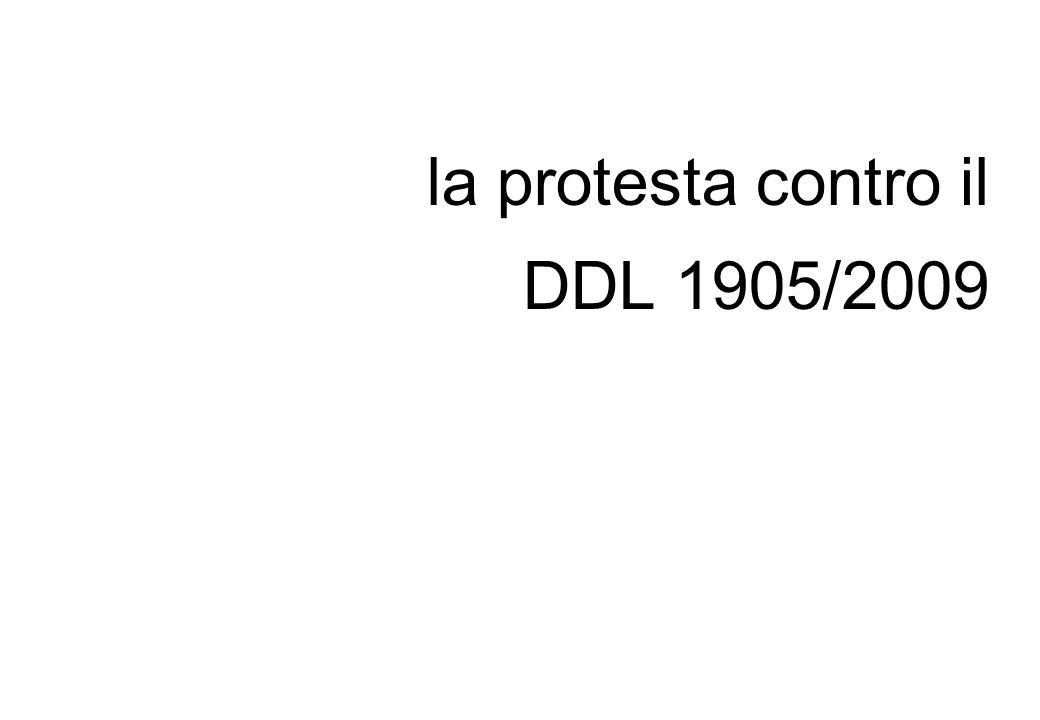 la protesta contro il DDL 1905/2009