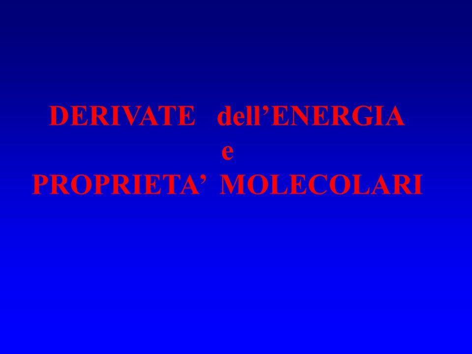 DERIVATE dellENERGIA e PROPRIETA MOLECOLARI