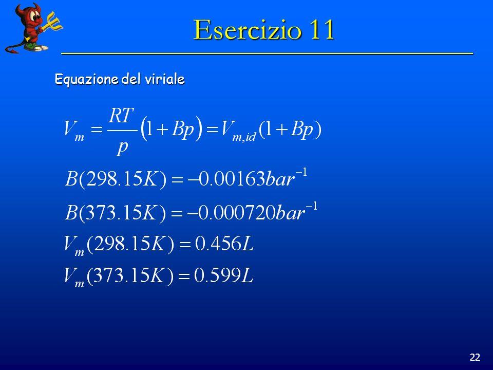 22 Esercizio 11 Equazione del viriale