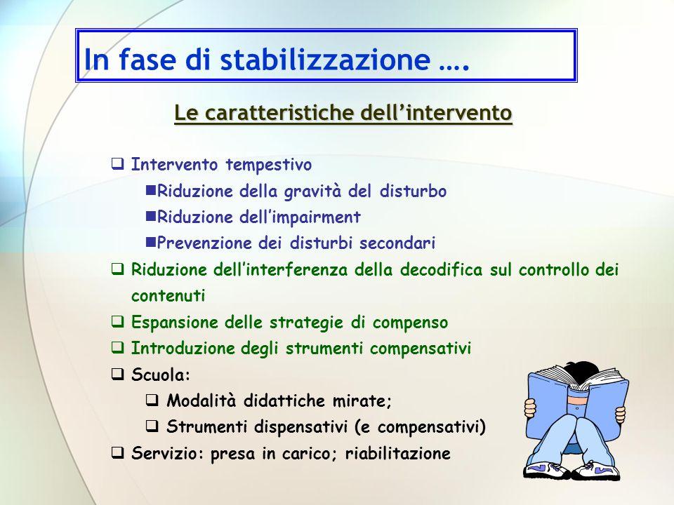 Intervento tempestivo Riduzione della gravità del disturbo Riduzione dellimpairment Prevenzione dei disturbi secondari Riduzione dellinterferenza dell
