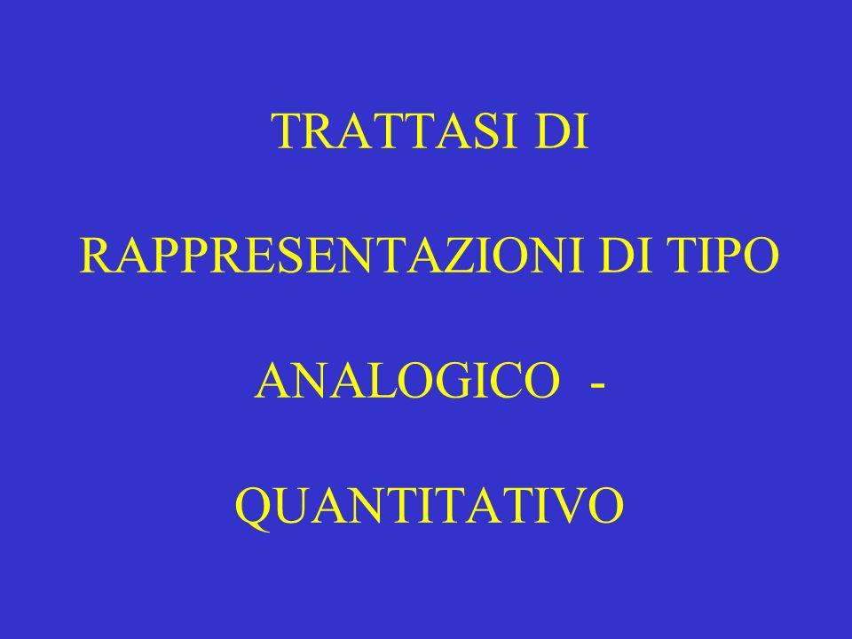 TRATTASI DI RAPPRESENTAZIONI DI TIPO ANALOGICO - QUANTITATIVO
