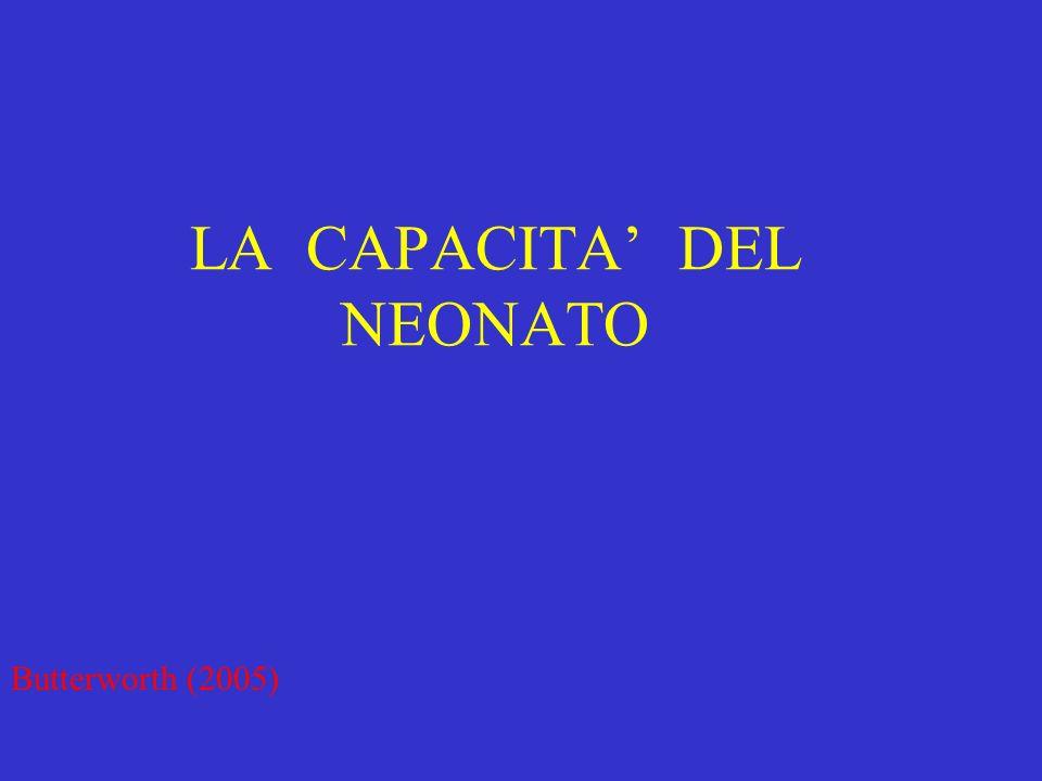LA CAPACITA DEL NEONATO Butterworth (2005)