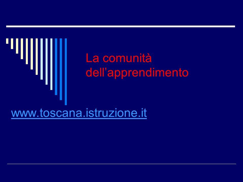 www.toscana.istruzione.it La comunità dellapprendimento