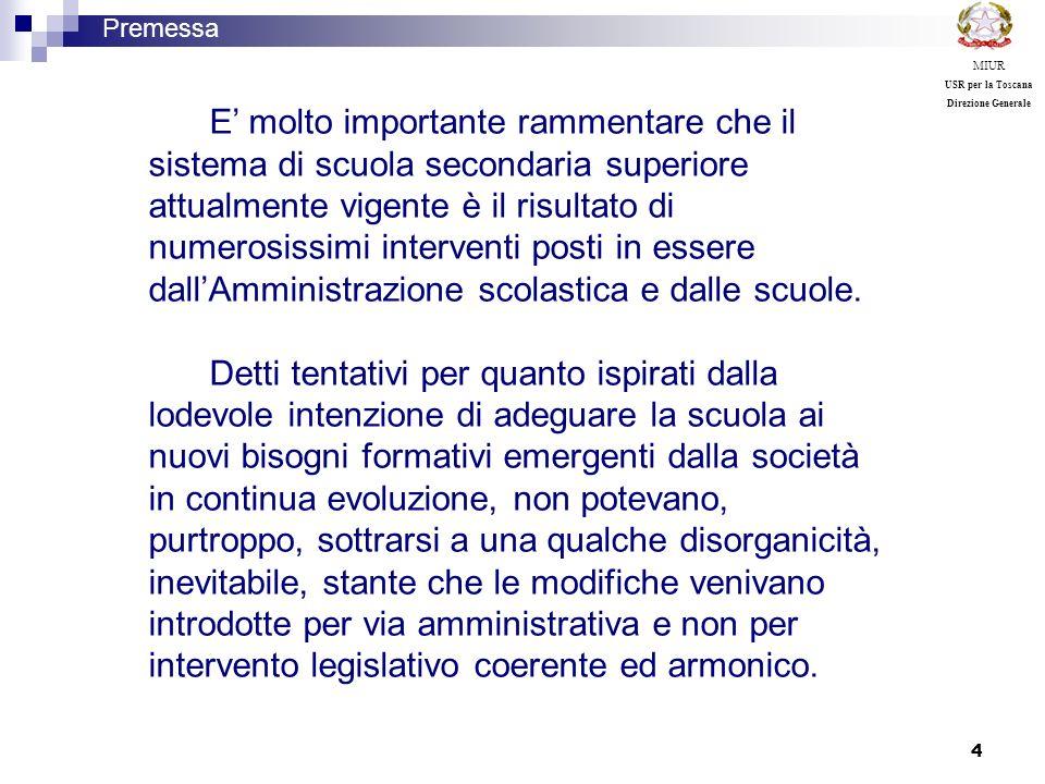 15 Premessa MIUR USR per la Toscana Direzione Generale Liceo linguistico: …è indirizzato allo studio di più sistemi linguistici e culturali.
