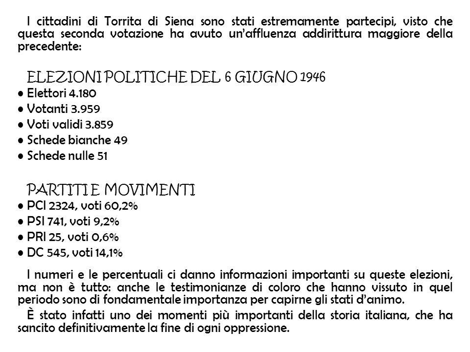 I cittadini di Torrita di Siena sono stati estremamente partecipi, visto che questa seconda votazione ha avuto unaffluenza addirittura maggiore della