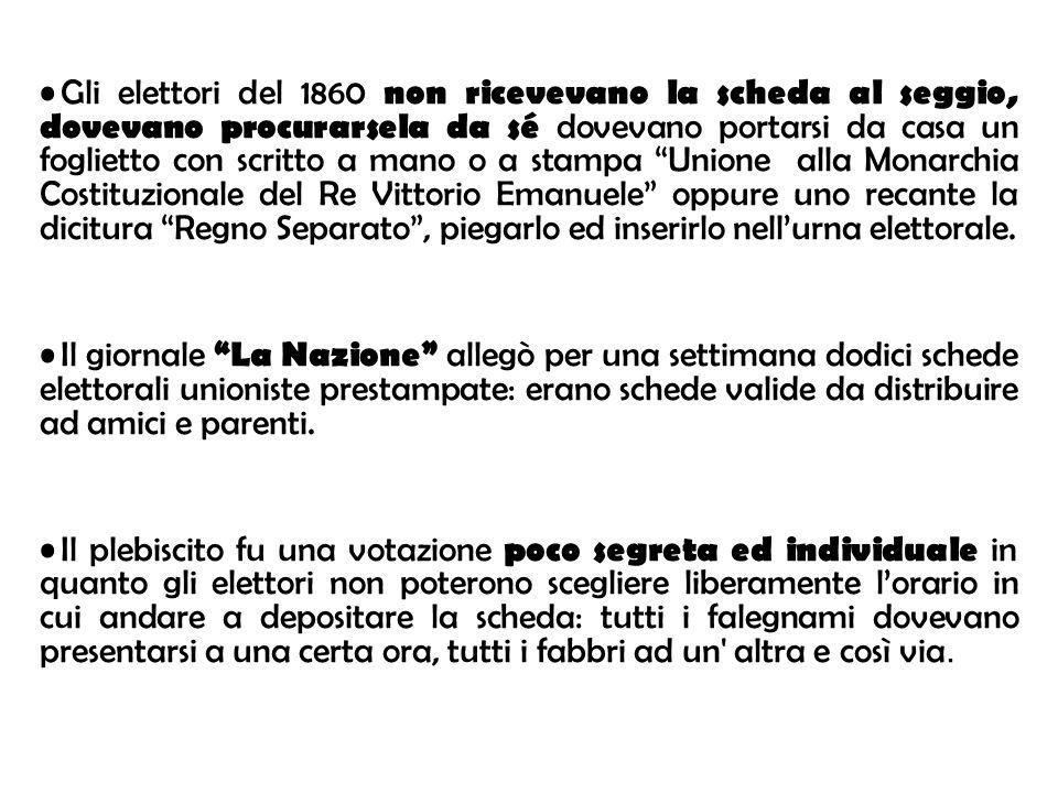ELEZIONI POLITICHE DEL 1882 In Italia, fino al 1882, solo il 2% della popolazione poteva votare.