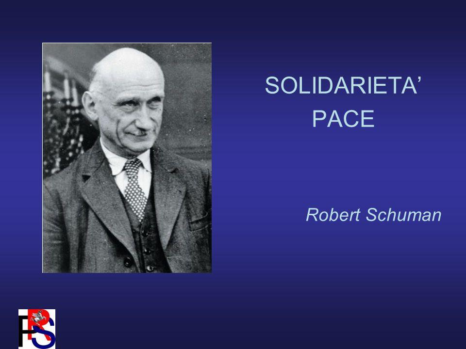 SOLIDARIETA PACE Robert Schuman