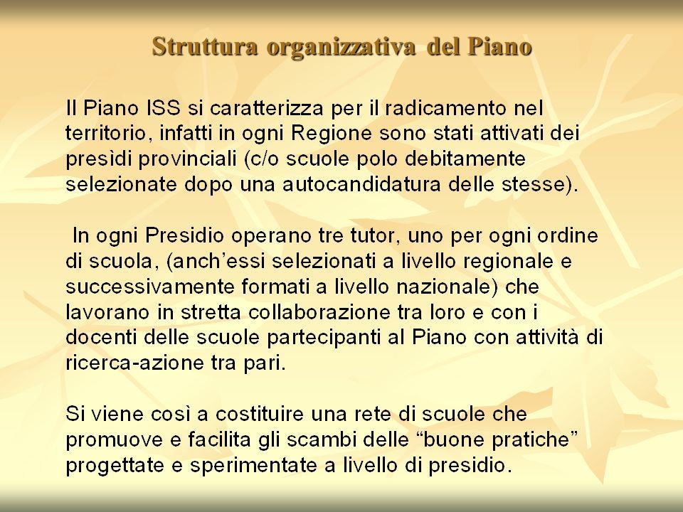 Struttura organizzativa del Piano