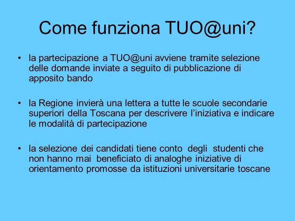 Come funziona TUO@uni.