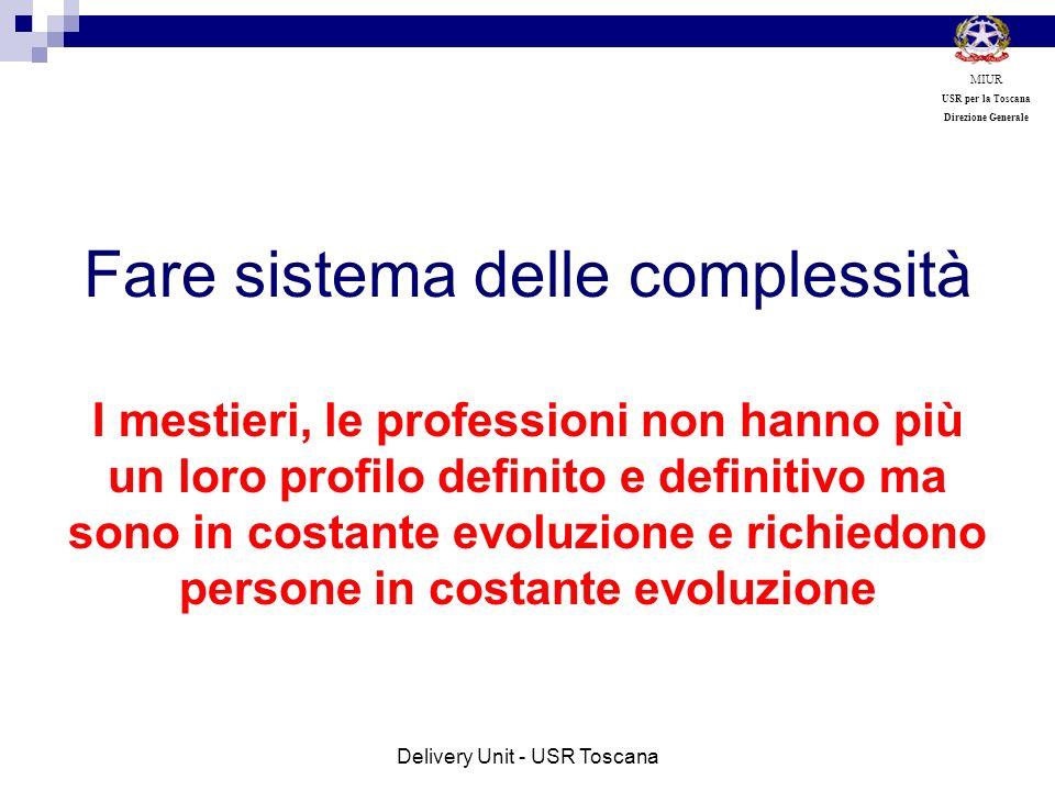 Fare sistema delle complessità I mestieri, le professioni non hanno più un loro profilo definito e definitivo ma sono in costante evoluzione e richied