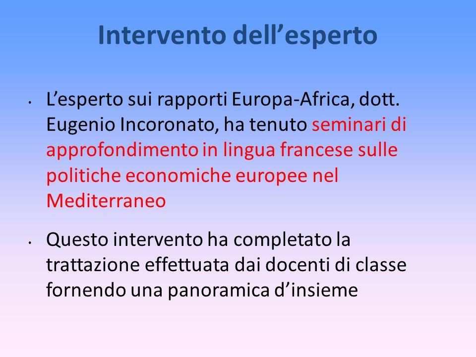 Intervento dellesperto Lesperto sui rapporti Europa-Africa, dott.