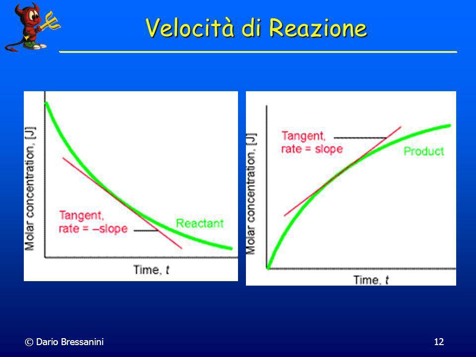 © Dario Bressanini11 Consideriamo la reazione CH 3 + CH 3 C 2 H 6 Consideriamo la reazione CH 3 + CH 3 C 2 H 6 Possiamo definire la velocità di reazio