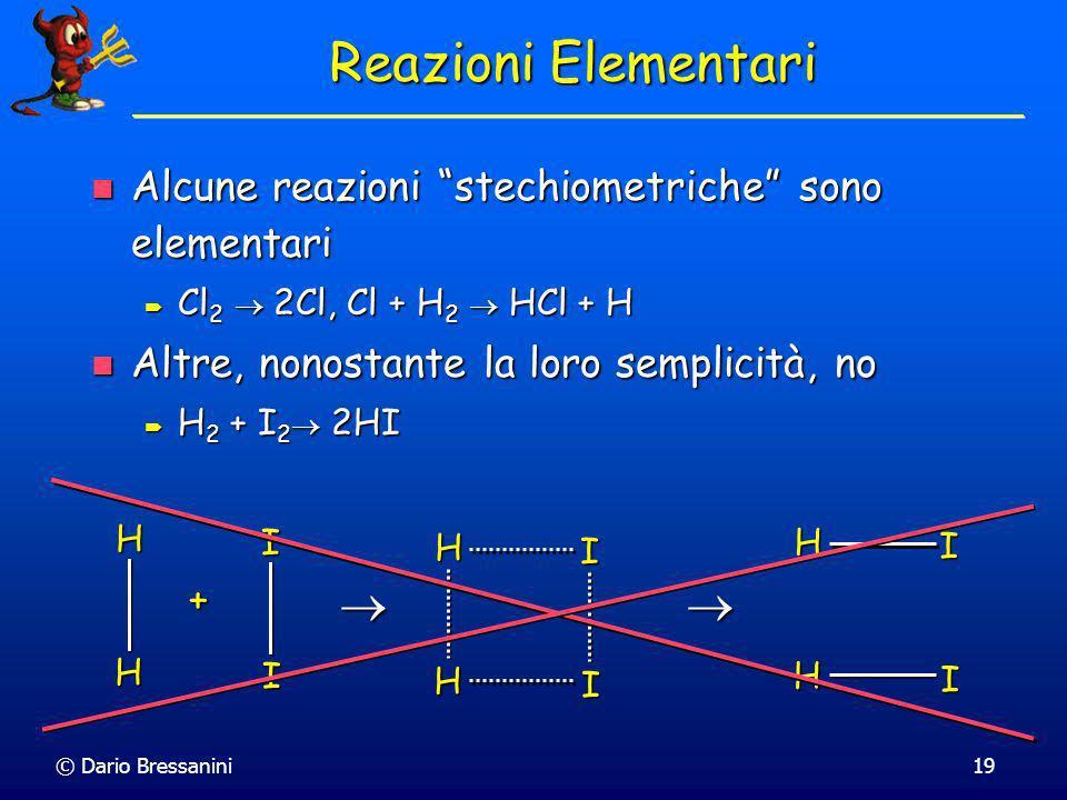© Dario Bressanini18 I due tipi più importanti di reazioni elementari sono: I due tipi più importanti di reazioni elementari sono: monomolecolari, Cl
