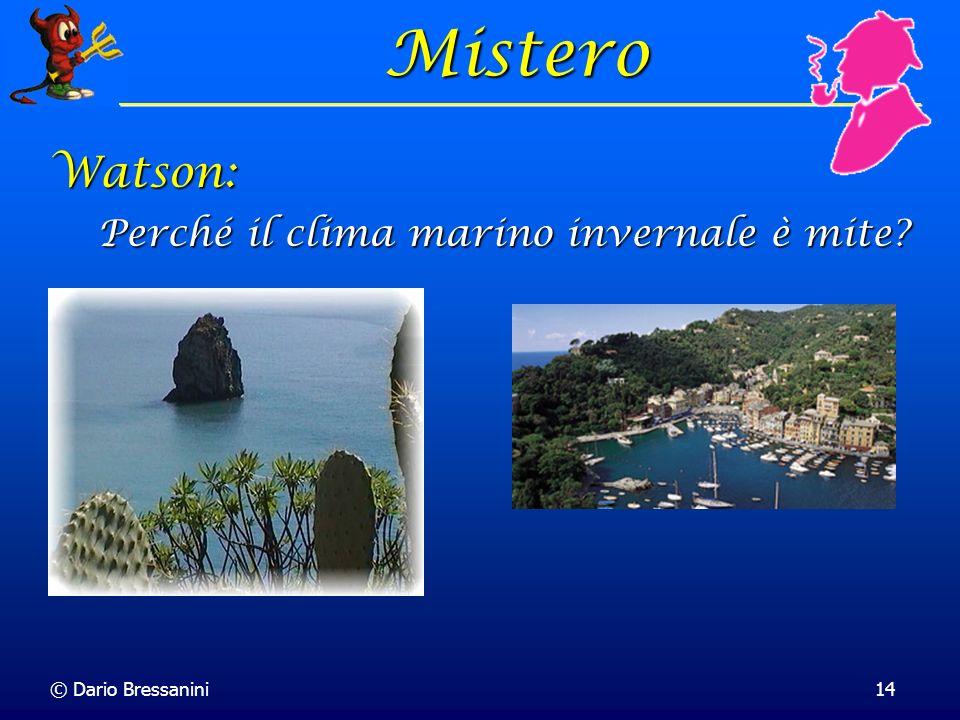 © Dario Bressanini14 Mistero Perché il clima marino invernale è mite? Watson: