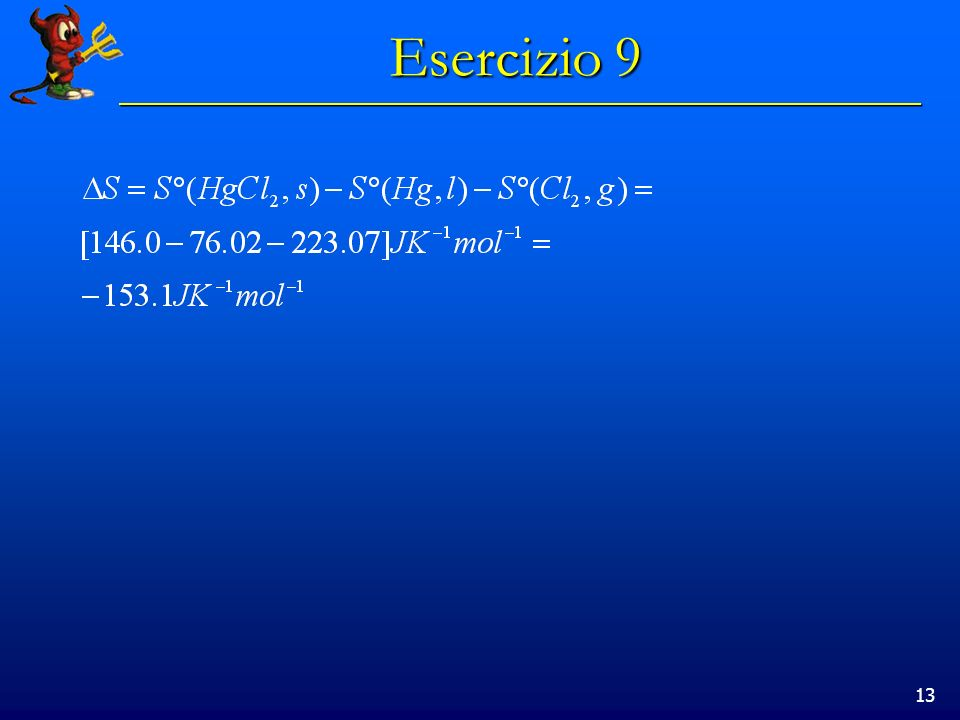 13 Esercizio 9