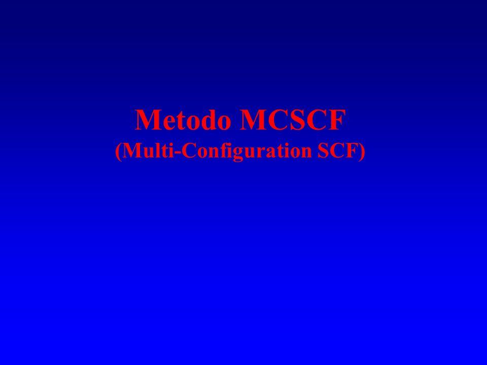 Variante della teoria MP: CASPT2 Teoria della perturbazione con funzione di riferimento multi determinantale per lo stato fondamentale e stati eccitati.