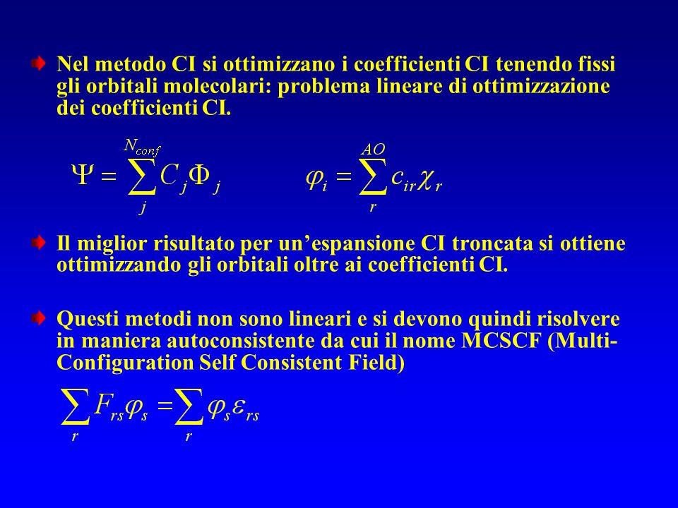 Schemi di additività e metodi Gn Aumenta la dimensione della base DZTZ funzioni Migliora la correlazione MP2 CCSD(T) full CI Risposta esatta