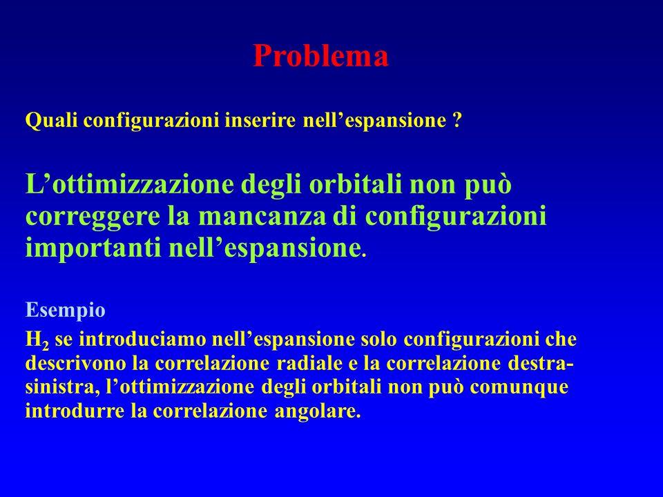 Problema della contaminazione di spin La funzione UHF è autofunzione di S z La funzione UHF non è autofunzione di S 2 La descrizione dello stato di spin della molecola non è corretta.