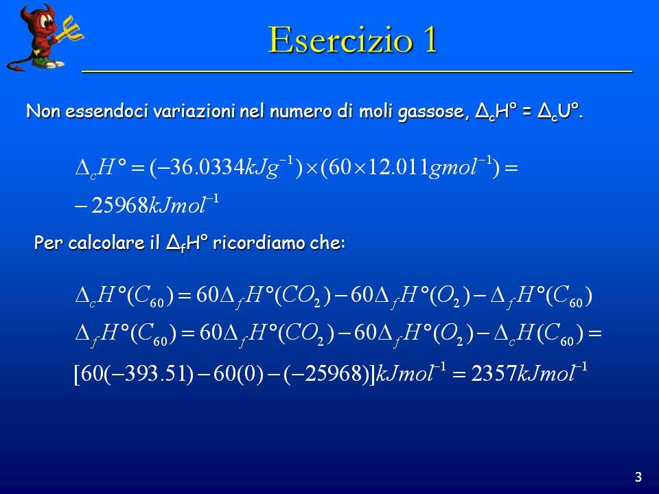 14 Esercizio 5 In un processo isotermo dT=0, quindi