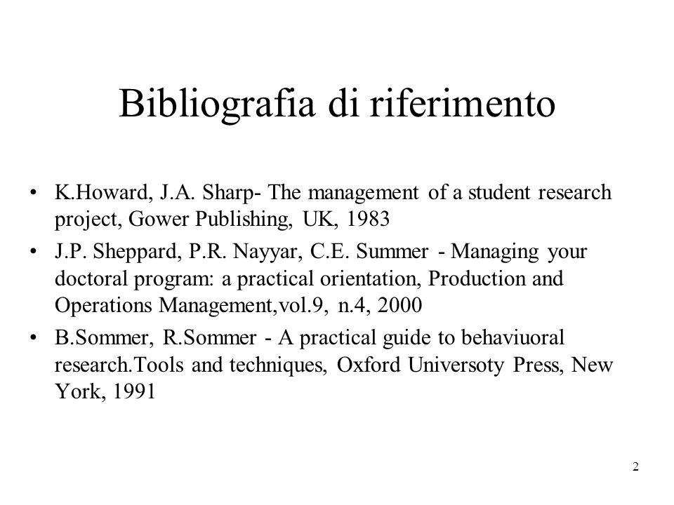2 Bibliografia di riferimento K.Howard, J.A.