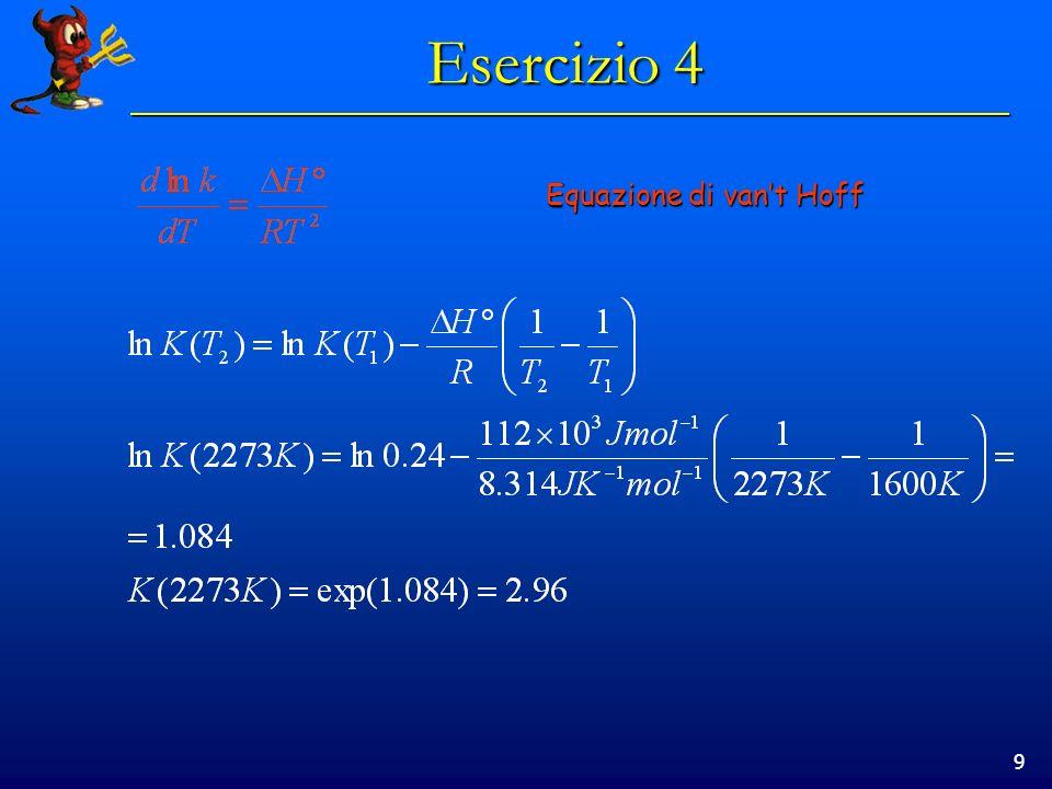 9 Equazione di vant Hoff
