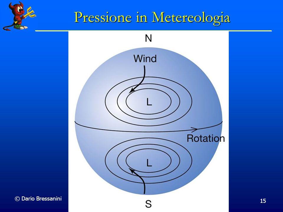 © Dario Bressanini 15 Pressione in Metereologia