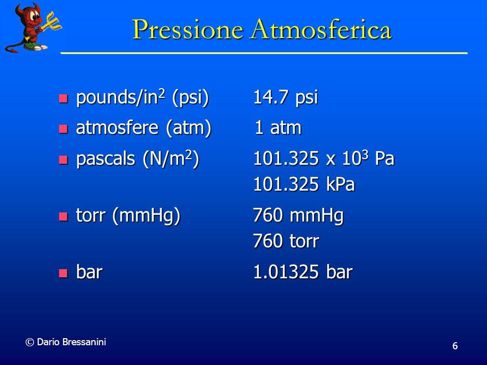 © Dario Bressanini 17 Modello Microscopico Consideriamo del gas in un recipiente.