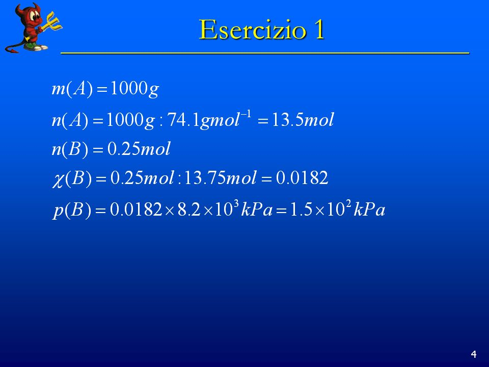 4 Esercizio 1