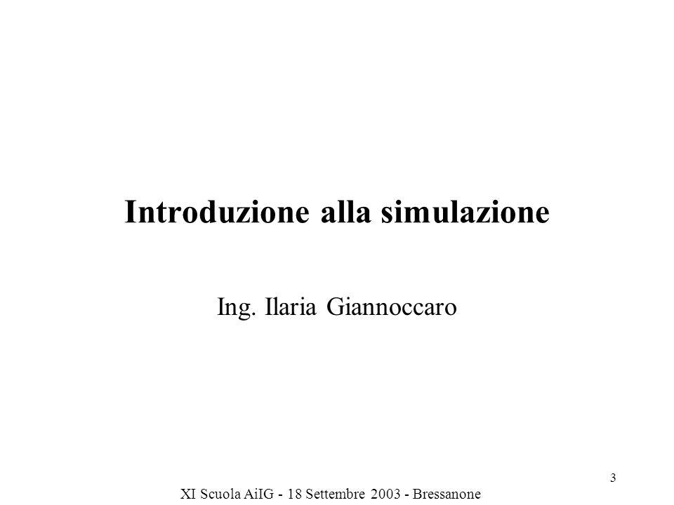 XI Scuola AiIG - 18 Settembre 2003 - Bressanone 14 Esempi di CAS Perché uno stormo di uccelli vola in un certo ordine.