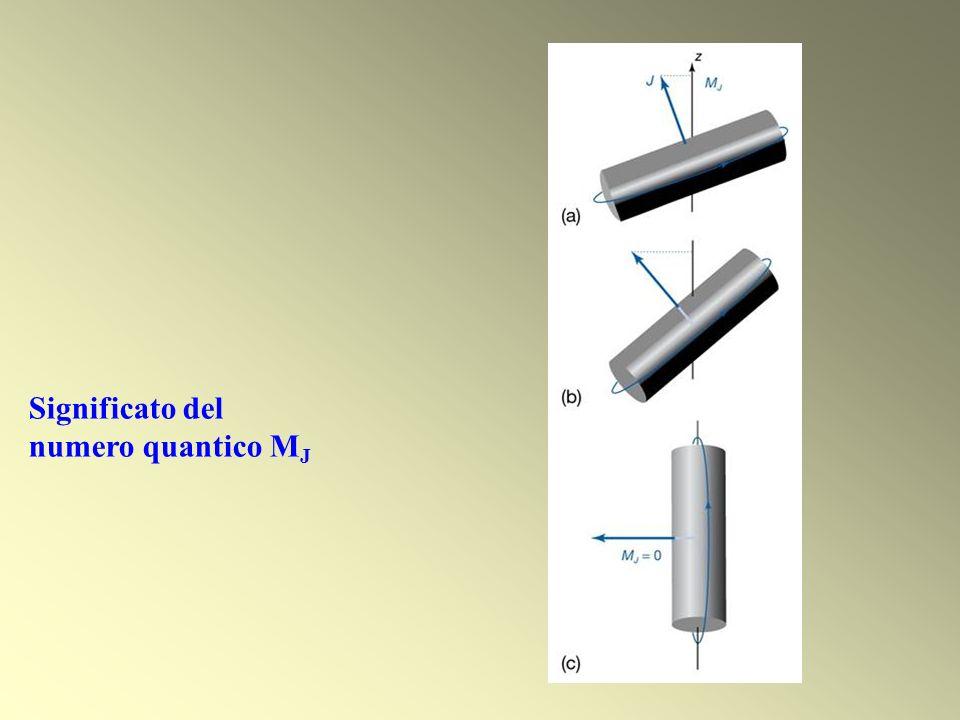 Significato del numero quantico M J