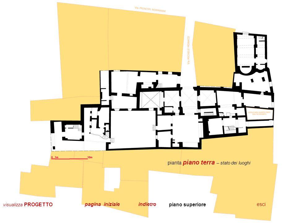 pianta piano primo – stato dei luoghi piano superiore piano inferioreescipagina iniziale visualizza PROGETTO