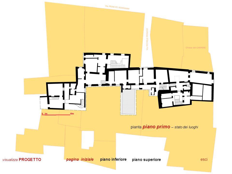 pianta piano secondo – stato dei luoghi prospetti & sezionipiano inferioreescipagina iniziale visualizza PROGETTO