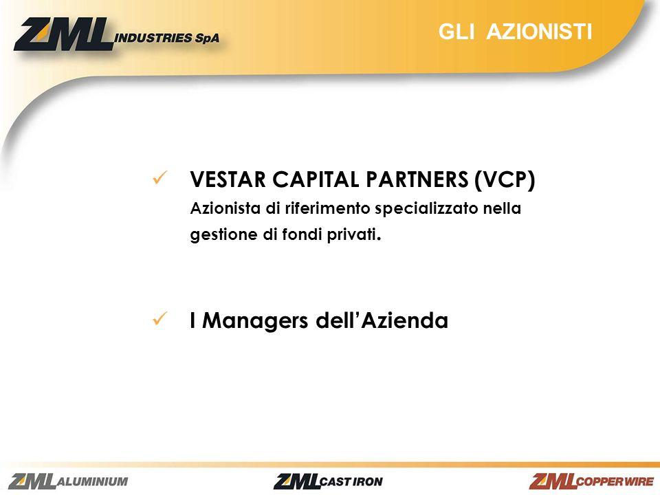GLI AZIONISTI VESTAR CAPITAL PARTNERS (VCP) Azionista di riferimento specializzato nella gestione di fondi privati. I Managers dellAzienda