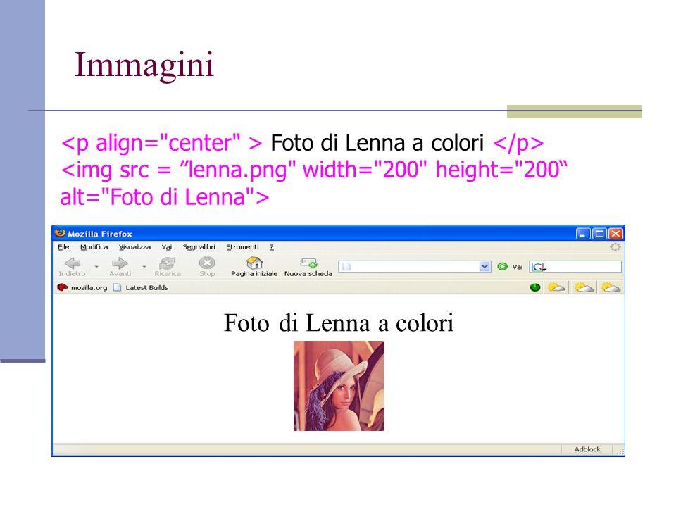 Immagini Foto di Lenna a colori