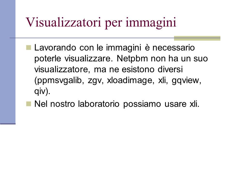 Visualizzatori per immagini Lavorando con le immagini è necessario poterle visualizzare.