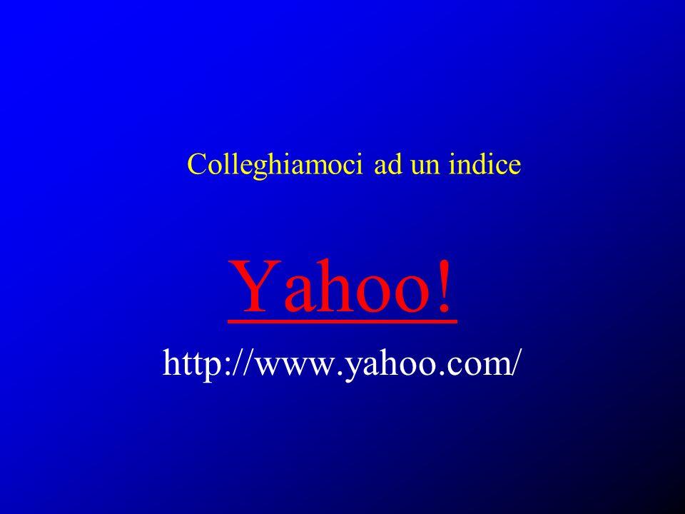Colleghiamoci ad un indice Yahoo! http://www.yahoo.com/