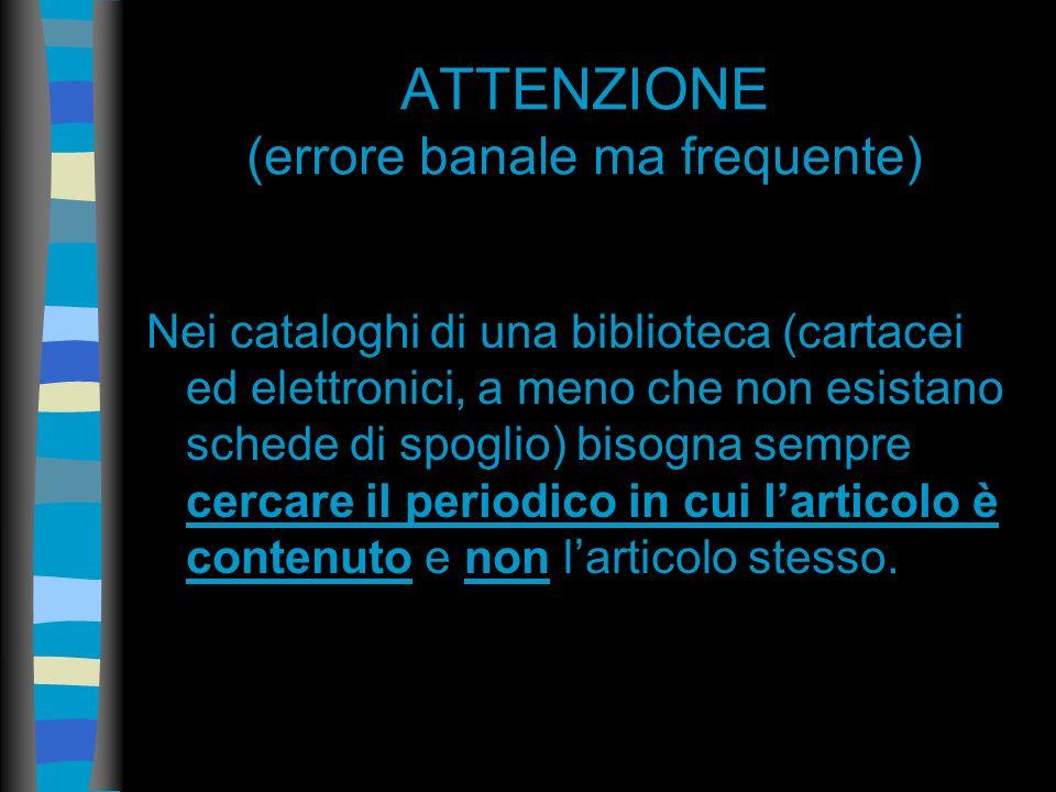 ACNP Catalogo italiano dei periodici Raccoglie i record bibliografici delle pubblicazioni periodiche possedute da biblioteche dislocate su tutto il te