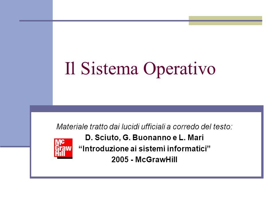 Il Sistema Operativo Materiale tratto dai lucidi ufficiali a corredo del testo: D. Sciuto, G. Buonanno e L. Mari Introduzione ai sistemi informatici 2