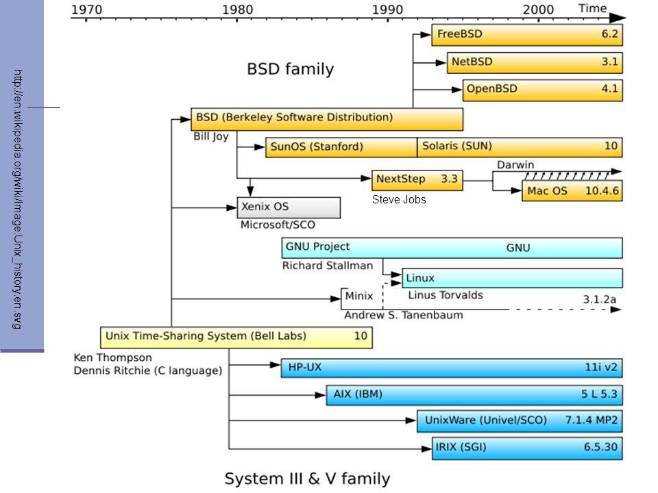 Steve Jobs http://en.wikipedia.org/wiki/Image:Unix_history.en.svg