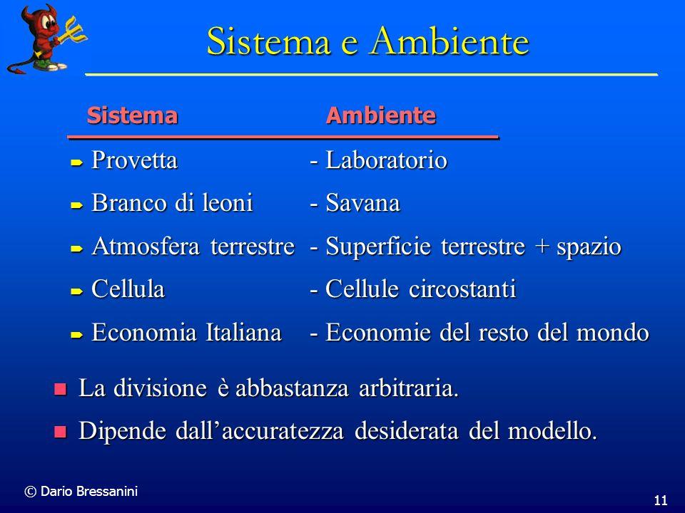 © Dario Bressanini 11 Sistema e Ambiente Provetta - Laboratorio Provetta - Laboratorio Branco di leoni - Savana Branco di leoni - Savana Atmosfera ter