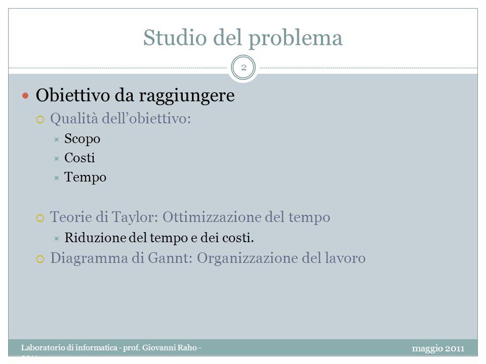 Complessità del problema 3 Suddivisione del problema in sottoproblemi.