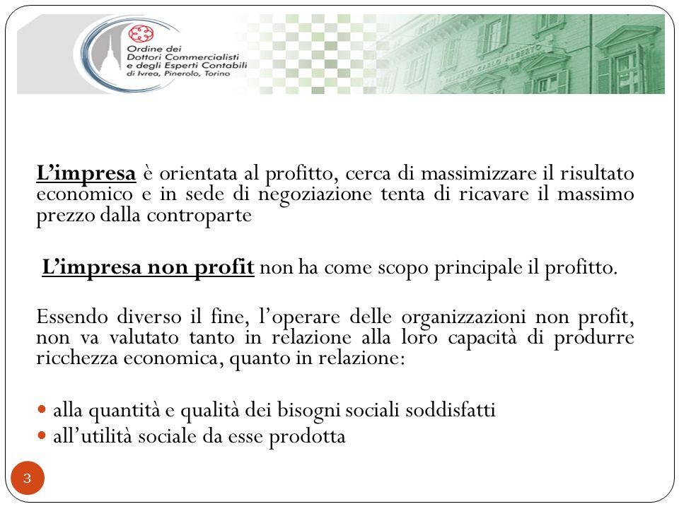 3 Limpresa è orientata al profitto, cerca di massimizzare il risultato economico e in sede di negoziazione tenta di ricavare il massimo prezzo dalla c