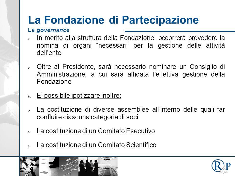La Fondazione di Partecipazione Ad esempio FdP SOCI FONDATORI Nuovi Fondatori Sostenitori Benemeriti Ordinari