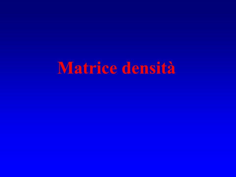 Se è espressa come prodotto di spin-orbitali { i } è la rappresentazione della matrice densità ridotta del primo ordine nella base i Se = HF rs = rs Matrice densità ridotta del primo ordine