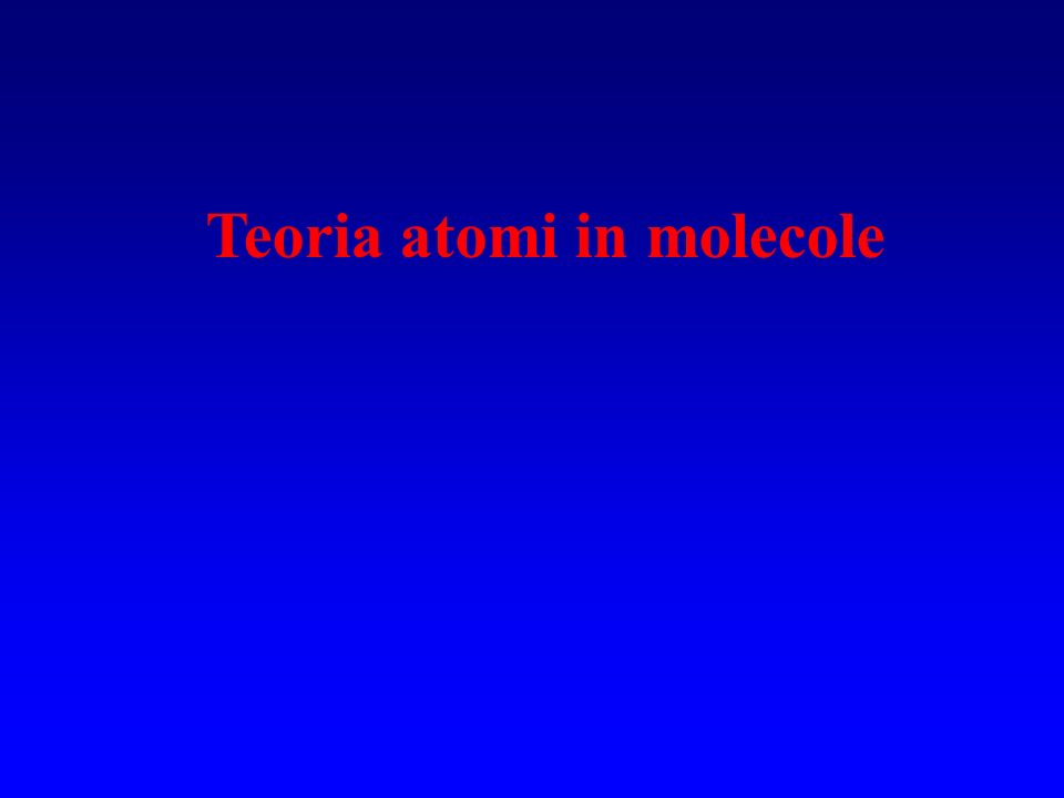 Teoria atomi in molecole