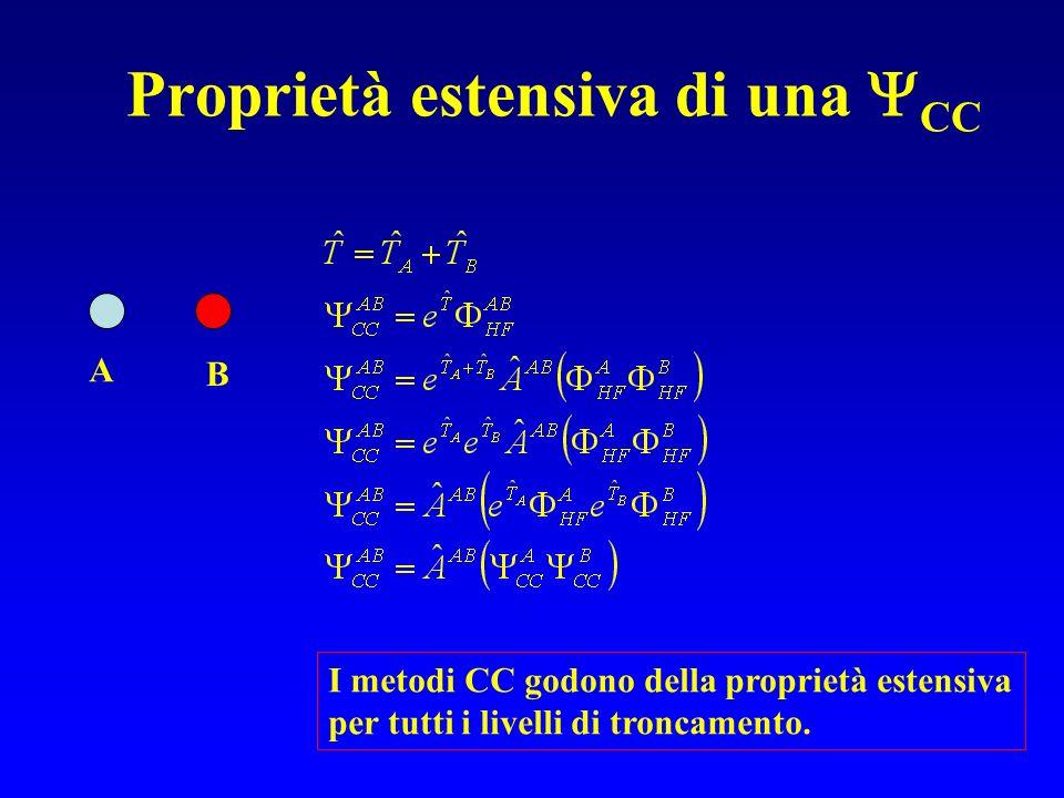 Proprietà estensiva di una CC A B I metodi CC godono della proprietà estensiva per tutti i livelli di troncamento.