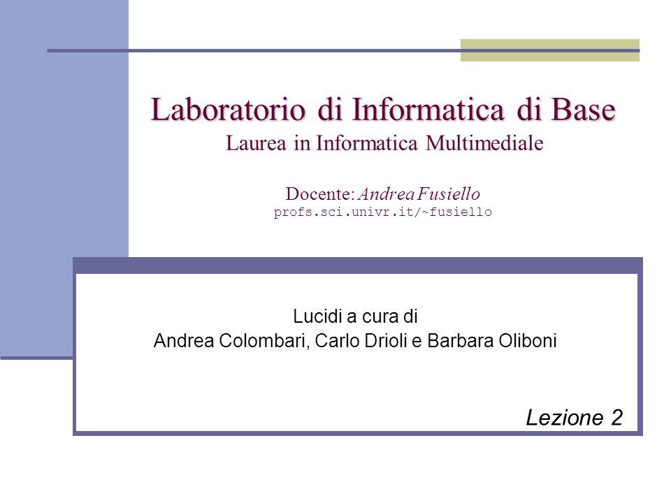 Il File System Materiale tratto dai lucidi ufficiali a corredo del testo: D.